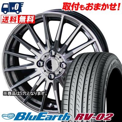 205/65R15 94H YOKOHAMA ヨコハマ BLUE EARTH RV02 ブルーアース RV02 CIRCLAR VERSION DF サーキュラー バージョン DF サマータイヤホイール4本セット