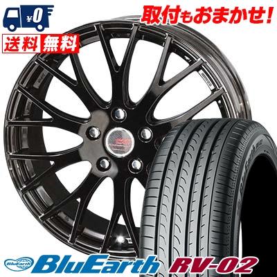 215/65R16 98H YOKOHAMA ヨコハマ BLUE EARTH RV02 ブルーアース RV02 ENKEI CREATIVE DIRECTION CDM2 エンケイ クリエイティブ ディレクション CD-M2 サマータイヤホイール4本セット