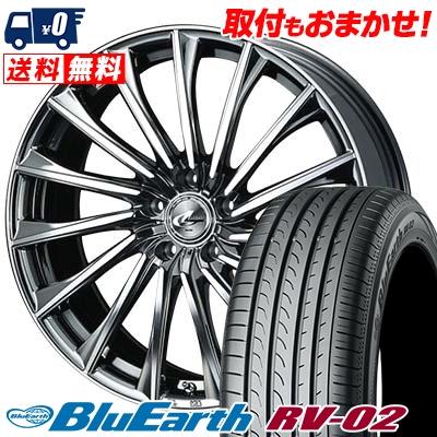 245/40R19 YOKOHAMA ヨコハマ BLUE EARTH RV02 ブルーアース RV02 WEDS LEONIS CH ウェッズ レオニス CH サマータイヤホイール4本セット