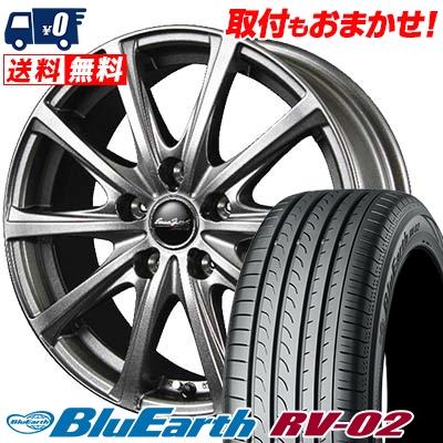205/55R17 91V YOKOHAMA ヨコハマ BLUE EARTH RV02 ブルーアース RV-02 EuroSpeed V25 ユーロスピード V25 サマータイヤホイール4本セット