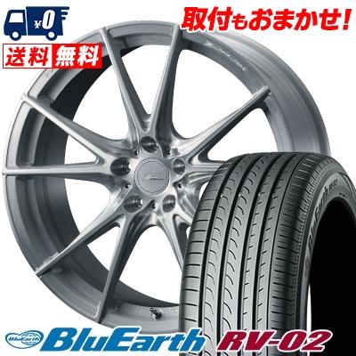 245/40R19 98W XL YOKOHAMA ヨコハマ BLUE EARTH RV02 ブルーアース RV-02 WEDS F ZERO FZ-2 ウェッズ エフゼロ FZ-2 サマータイヤホイール4本セット