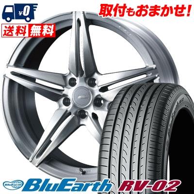245/40R20 99W XL YOKOHAMA ヨコハマ BLUE EARTH RV02 ブルーアース RV-02 WEDS F ZERO FZ-3 ウェッズ エフゼロ FZ-3 サマータイヤホイール4本セット