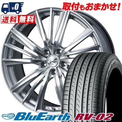 215/60R17 96H YOKOHAMA ヨコハマ BLUE EARTH RV02 ブルーアース RV-02 weds LEONIS FY ウェッズ レオニス FY サマータイヤホイール4本セット