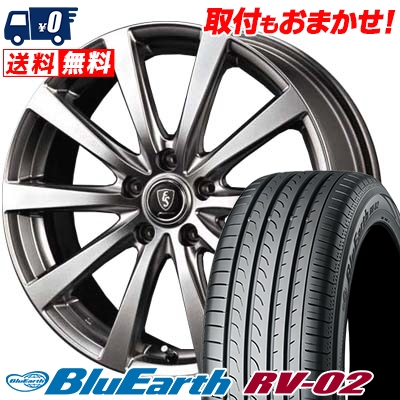195/60R16 89H YOKOHAMA ヨコハマ BLUE EARTH RV02 ブルーアース RV02 Euro Speed G10 ユーロスピード G10 サマータイヤホイール4本セット