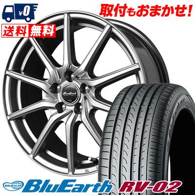225/45R18 95W XL YOKOHAMA ヨコハマ BLUE EARTH RV02 ブルーアース RV-02 EuroSpeed G810 ユーロスピード G810 サマータイヤホイール4本セット