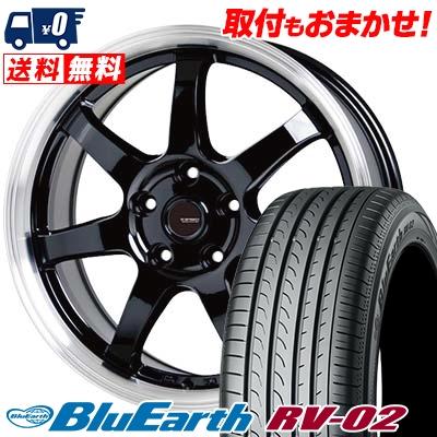 225/45R18 95W XL YOKOHAMA ヨコハマ BLUE EARTH RV02 ブルーアース RV02 G.speed P-03 ジースピード P-03 サマータイヤホイール4本セット