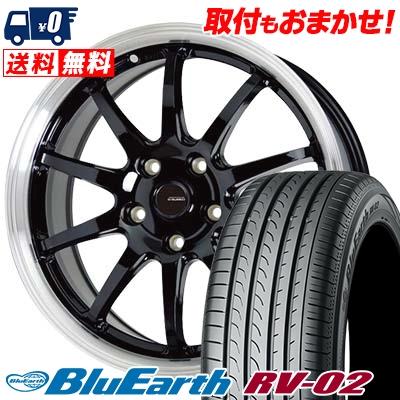 205/65R16 95H YOKOHAMA ヨコハマ BLUE EARTH RV02 ブルーアース RV-02 G.speed P-04 ジースピード P-04 サマータイヤホイール4本セット