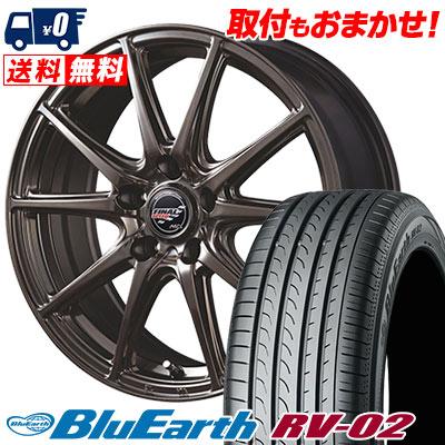 195/65R15 91H YOKOHAMA ヨコハマ BLUE EARTH RV02 ブルーアース RV-02 FINALSPEED GR-Volt ファイナルスピード GRボルト サマータイヤホイール4本セット