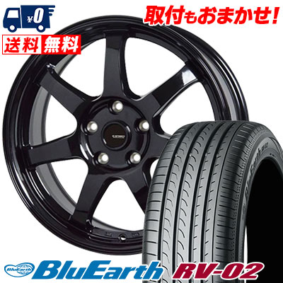 195/60R16 89H YOKOHAMA ヨコハマ BLUE EARTH RV02 ブルーアース RV-02 G.speed G-03 Gスピード G-03 サマータイヤホイール4本セット