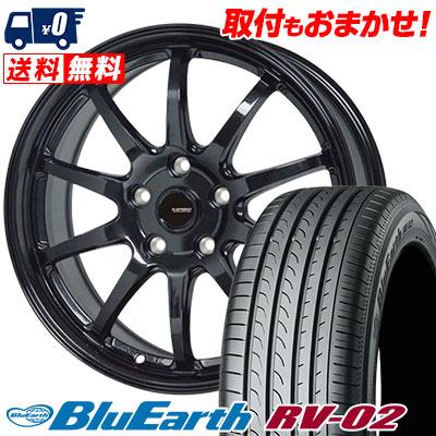 205/65R15 94H YOKOHAMA ヨコハマ BLUE EARTH RV02 ブルーアース RV-02 G.speed G-04 Gスピード G-04 サマータイヤホイール4本セット, オヤマシ 40731bf1
