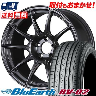 235/65R18 106V YOKOHAMA ヨコハマ BLUE EARTH RV02 ブルーアース RV-02 SSR GT X01 SSR GT X01 サマータイヤホイール4本セット
