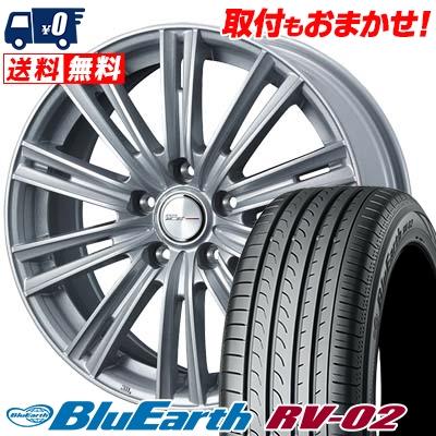 215/60R16 95H YOKOHAMA ヨコハマ BLUE EARTH RV02 ブルーアース RV-02 WEDS JOKER ICE ウェッズ ジョーカー アイス サマータイヤホイール4本セット
