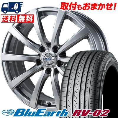 215/60R17 96H YOKOHAMA ヨコハマ BLUE EARTH RV02 ブルーアース RV-02 ZACK JP-110 ザック JP110 サマータイヤホイール4本セット