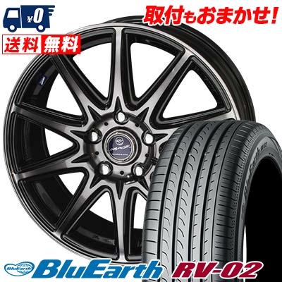 215/60R16 95H YOKOHAMA ヨコハマ BLUE EARTH RV02 ブルーアース RV-02 SMACK LAVINE スマック ラヴィーネ サマータイヤホイール4本セット
