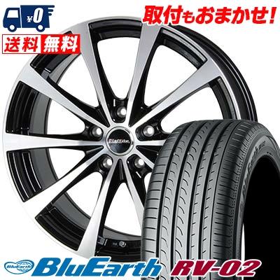 195/60R16 89H YOKOHAMA ヨコハマ BLUE EARTH RV02 ブルーアース RV-02 Laffite LE-03 ラフィット LE-03 サマータイヤホイール4本セット