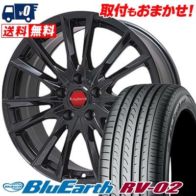 235/65R18 106V YOKOHAMA ヨコハマ BLUE EARTH RV02 ブルーアース RV-02 LeyBahn GBX レイバーン GBX サマータイヤホイール4本セット