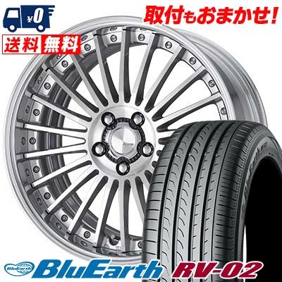 225/40R19 93W XL YOKOHAMA ヨコハマ BLUE EARTH RV02 ブルーアース RV-02 WORK Lanvec LF1 Odisk ワーク ランべック LF1 Oディスク サマータイヤホイール4本セット