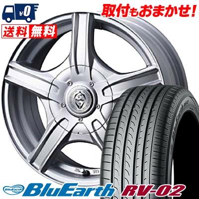 205/65R15 94H YOKOHAMA ヨコハマ BLUE EARTH RV02 ブルーアース RV-02 Treffer MH トレファーMH サマータイヤホイール4本セット