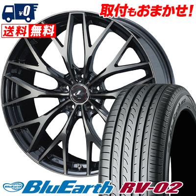 215/65R16 98H YOKOHAMA ヨコハマ BLUE EARTH RV02 ブルーアース RV-02 weds LEONIS MX ウェッズ レオニス MX サマータイヤホイール4本セット【取付対象】