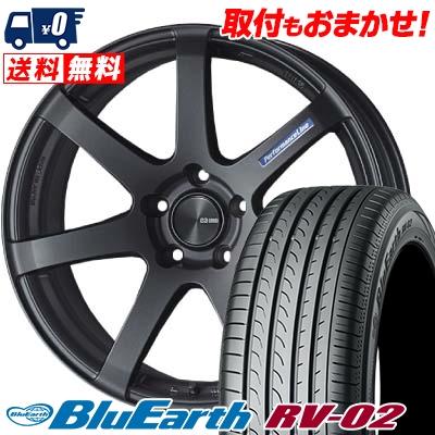 225/55R19 99V YOKOHAMA ヨコハマ BLUE EARTH RV02 ブルーアース RV-02 ENKEI PerformanceLine PF-07 エンケイ パフォーマンスライン PF07 サマータイヤホイール4本セット