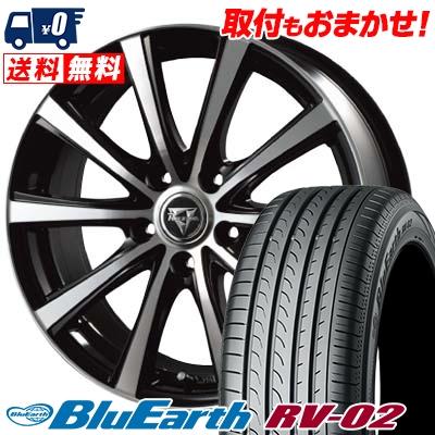 205/65R15 94H YOKOHAMA ヨコハマ BLUE EARTH RV02 ブルーアース RV-02 Razee XV レイジー XV サマータイヤホイール4本セット