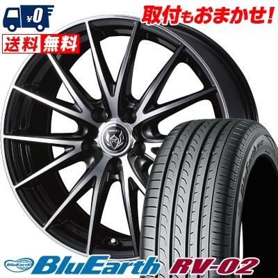 195/65R15 91H YOKOHAMA ヨコハマ BLUE EARTH RV02 ブルーアース RV-02 WEDS RIZLEY VS ウェッズ ライツレー VS サマータイヤホイール4本セット