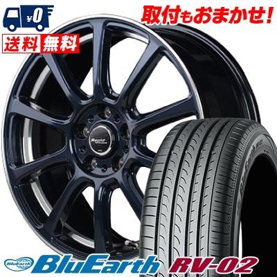 225/50R18 95V YOKOHAMA ヨコハマ BLUE EARTH RV02 ブルーアース RV-02 Rapid Performance ZX10 ラピッド パフォーマンス ZX10 サマータイヤホイール4本セット【取付対象】