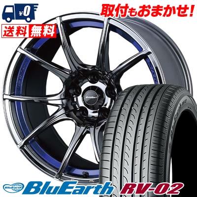 フジオカシ 225/50R18 95V YOKOHAMA RV-02 ヨコハマ BLUE EARTH BLUE RV02 95V ブルーアース RV-02 wedsSport SA-10R ウエッズスポーツ SA10R サマータイヤホイール4本セット【取付対象】, WONDERSHOES:a06e4d50 --- easyacesynergy.com