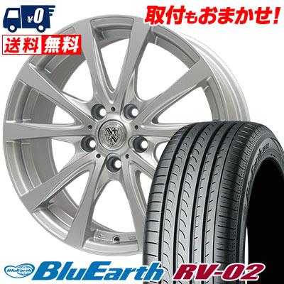 215/60R17 96H YOKOHAMA ヨコハマ BLUE EARTH RV02 ブルーアース RV-02 TRG-SILBAHN TRG シルバーン サマータイヤホイール4本セット