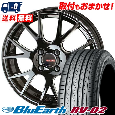 215/60R16 95H YOKOHAMA ヨコハマ BLUE EARTH RV02 ブルーアース RV-02 CIRCLAR RM-7 サーキュラー RM-7 サマータイヤホイール4本セット
