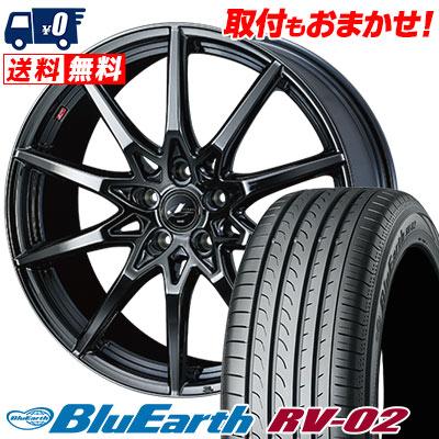 245/40R20 99W XL YOKOHAMA ヨコハマ BLUE EARTH RV02 ブルーアース RV-02 weds LEONIS SV ウェッズ レオニス SV サマータイヤホイール4本セット