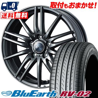 215/60R16 95H YOKOHAMA ヨコハマ BLUE EARTH RV02 ブルーアース RV-02 Zamik Tito ザミック ティート サマータイヤホイール4本セット
