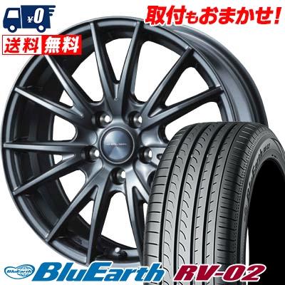 195/60R16 89H YOKOHAMA ヨコハマ BLUE EARTH RV02 ブルーアース RV-02 VELVA SPORT ヴェルヴァ スポルト サマータイヤホイール4本セット