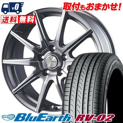 225/65R17 106V XL YOKOHAMA ヨコハマ BLUE EARTH RV02 ブルーアース RV-02 V-EMOTION SR10 Vエモーション SR10 サマータイヤホイール4本セット