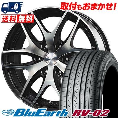 225/50R18 95V YOKOHAMA ヨコハマ BLUE EARTH RV02 ブルーアース RV-02 TWS Black Racing VS1 TWS ブラックレーシング・VS1 サマータイヤホイール4本セット for 200系ハイエース