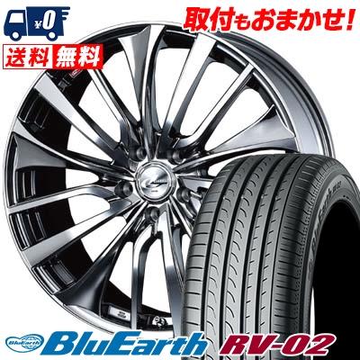 225/40R19 93W XL YOKOHAMA ヨコハマ BLUE EARTH RV02 ブルーアース RV-02 weds LEONIS VT ウエッズ レオニス VT サマータイヤホイール4本セット
