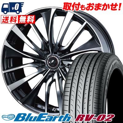 195/65R15 91H YOKOHAMA ヨコハマ BLUE EARTH RV02 ブルーアース RV-02 weds LEONIS VT ウエッズ レオニス VT サマータイヤホイール4本セット