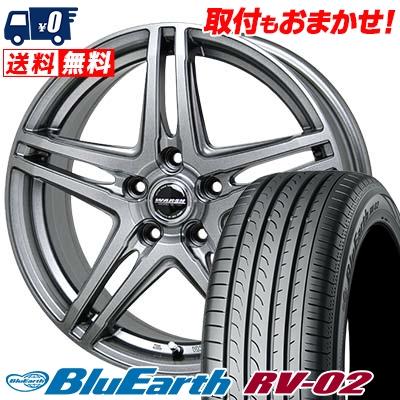 215/60R16 95H YOKOHAMA ヨコハマ BLUE EARTH RV02 ブルーアース RV-02 WAREN W04 ヴァーレン W04 サマータイヤホイール4本セット