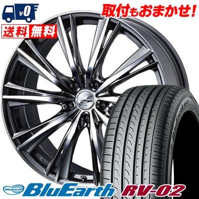 大切な 225/40R19 93W XL YOKOHAMA ヨコハマ BLUE EARTH RV02 ブルーアース RV02 weds LEONIS WX ウエッズ レオニス WX サマータイヤホイール4本セット, 西脇市 e406f87a