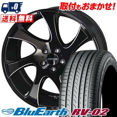 245/35R20 95W XL YOKOHAMA ヨコハマ BLUE EARTH RV02 ブルーアース RV02 AME SHALLEN WX-monoblock AME シャレン WX モノブロック サマータイヤホイール4本セット