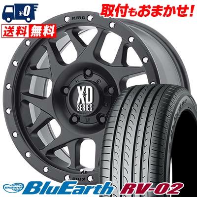 205/60R16 92H YOKOHAMA ヨコハマ BLUE EARTH RV02 ブルーアース RV-02 KMC XD127 BULLY KMC XD127 ブリー サマータイヤホイール4本セット