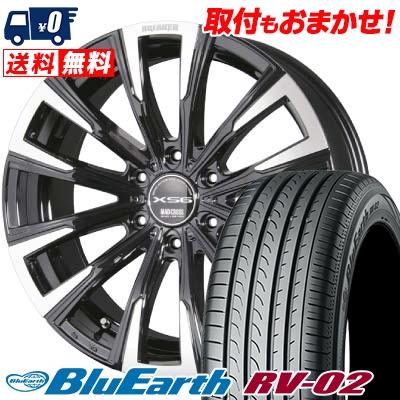 215/65R16 98H YOKOHAMA ヨコハマ BLUE EARTH RV02 ブルーアース RV02 MAD CROSS BREAKER XS6 マッドクロス ブレイカー XS6 サマータイヤホイール4本セット