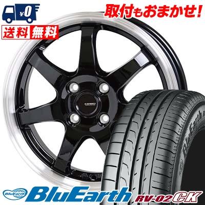 185/70R14 88S YOKOHAMA ヨコハマ BLUE EARTH RV02 CK ブルーアース RV-02 CK G.speed P-03 ジースピード P-03 サマータイヤホイール4本セット
