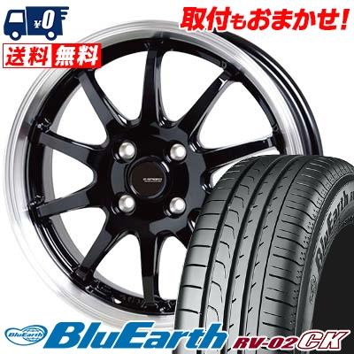 185/65R15 88H YOKOHAMA ヨコハマ BLUE EARTH RV02 CK ブルーアース RV-02 CK G.speed P-04 ジースピード P-04 サマータイヤホイール4本セット