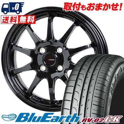 185/65R15 88H YOKOHAMA ヨコハマ BLUE EARTH RV02 CK ブルーアース RV-02 CK G.speed G-04 Gスピード G-04 サマータイヤホイール4本セット