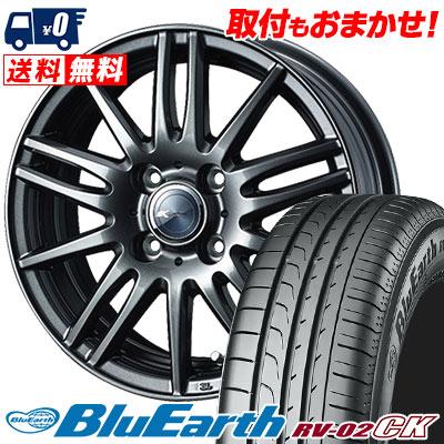 185/70R14 88S YOKOHAMA ヨコハマ BLUE EARTH RV02 CK ブルーアース RV-02 CK Zamik Tito ザミック ティート サマータイヤホイール4本セット