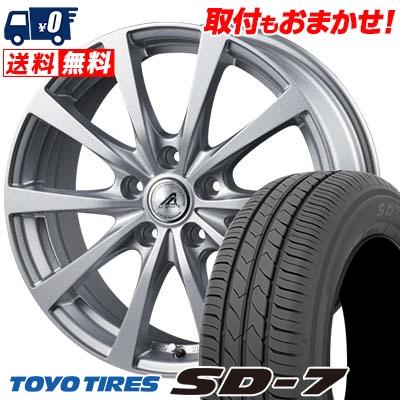 195/65R15 91H TOYO TIRES トーヨー タイヤ SD-7 エスディーセブン AZ SPORTS EX10 AZスポーツ EX10 サマータイヤホイール4本セット
