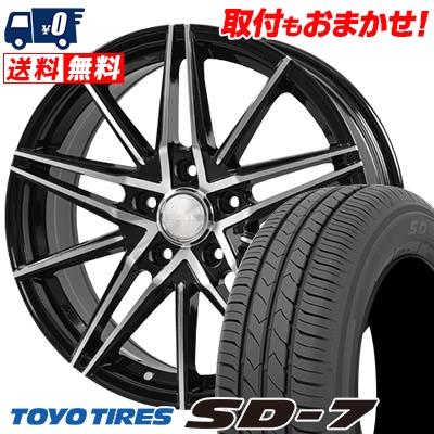 215/50R17 91V TOYO TIRES トーヨー タイヤ SD-7 エスディーセブン BLONKS TB01 ブロンクス TB01 サマータイヤホイール4本セット