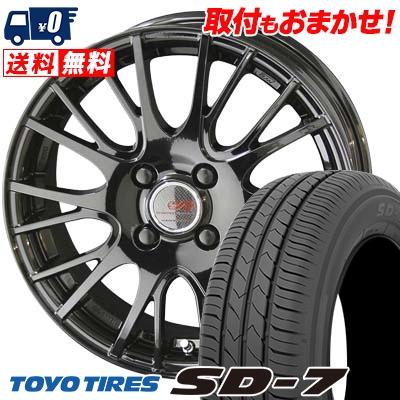 175/70R14 84S TOYO TIRES トーヨー タイヤ SD-7 エスディーセブン ENKEI CREATIVE DIRECTION CDS1 エンケイ クリエイティブ ディレクション CD-S1 サマータイヤホイール4本セット