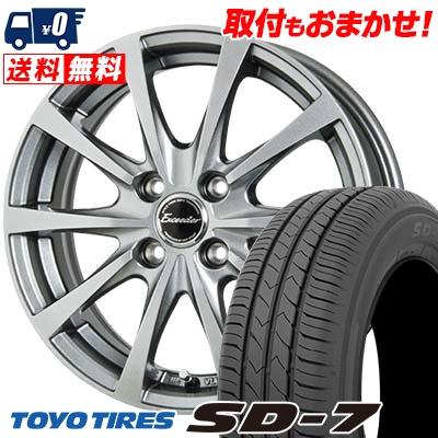 185/65R15 88S TOYO TIRES トーヨー タイヤ SD-7 エスディーセブン Exceeder E03 エクシーダー E03 サマータイヤホイール4本セット
